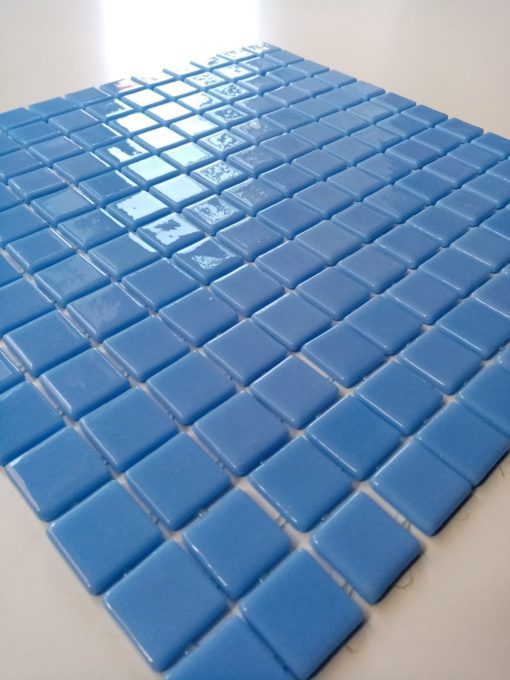 Mosaïque bleu clair
