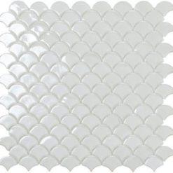 M² Mosaïque Écailles blanc