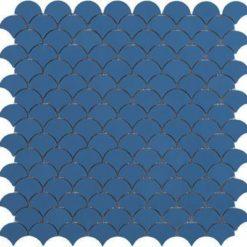 M² Mosaïque Ecailles bleu mat