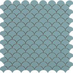 M² Mosaïque Écailles turquoise mat