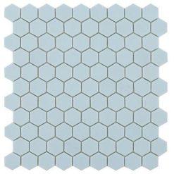 M² Mosaïque Hexagonal bleu clair mat
