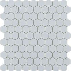 M² Mosaïque hexagonal gris clair mat