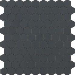 M² Mosaïque hexagonal gris foncé mat