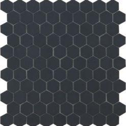 M² Moaïque hexagonal noir mat