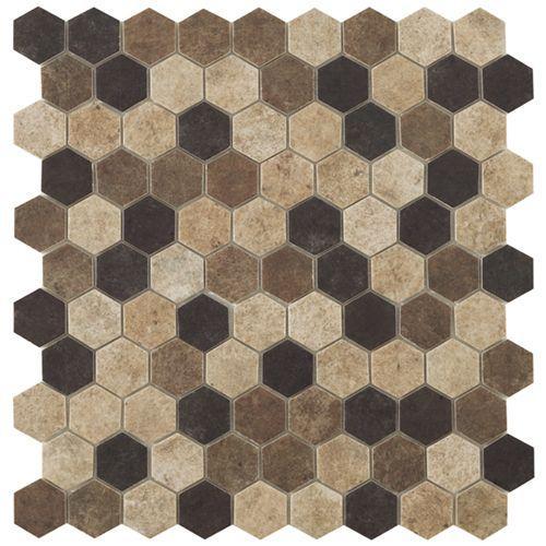 M² Mosaïque hexagonal terre beige