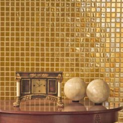 mosaïque dorée
