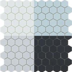 Couleurs de mosaïque hexagonale