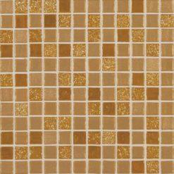 mosaique métalisée dorée